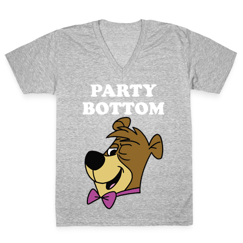 Power Top & Party Bottom (Cub) V-Neck Tee Shirt