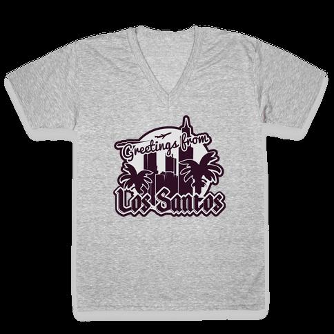 Greetings From Los Santos V-Neck Tee Shirt