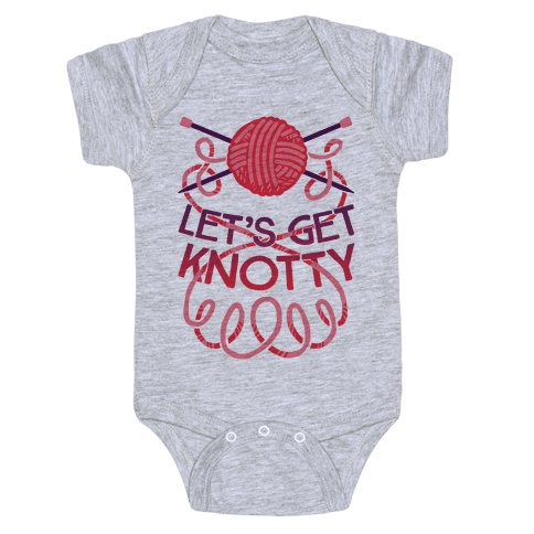 Let's Get Knotty (Knitting) Baby Onesy