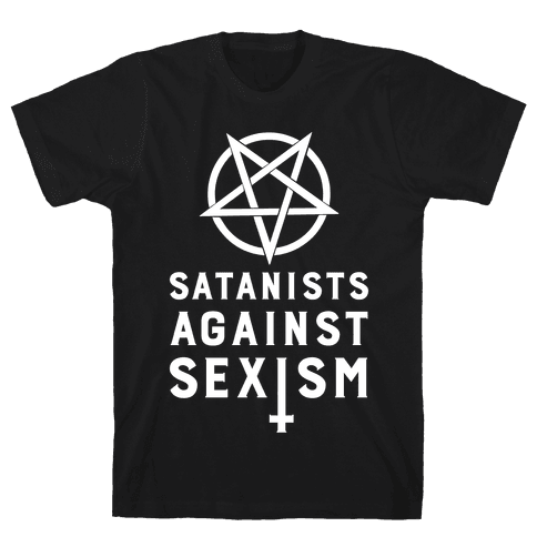 Satanists Against Sexism Mens T-Shirt