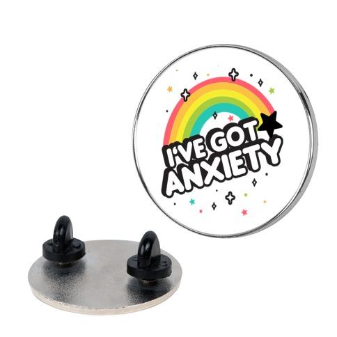 I've Got Anxiety Rainbow pin