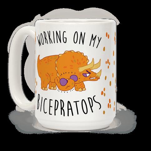 Working on My Bicepratops Coffee Mug
