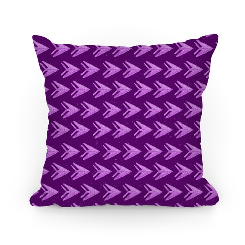 Purple Watercolor Arrow Pattern Pillow