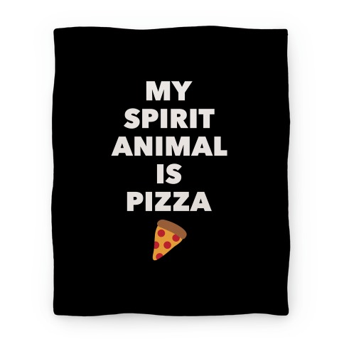 Pizza Spirit Animal Blanket