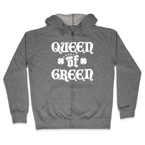Queen Of Green Zip Hoodie