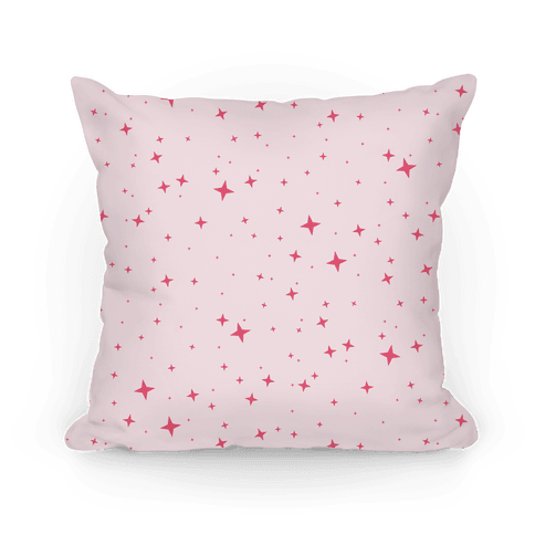 Pink Twinkling Star Sparkles Pattern Pillow