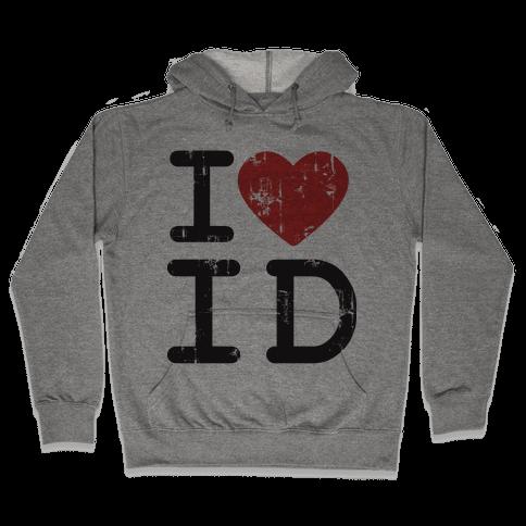 I Love Idaho Hooded Sweatshirt