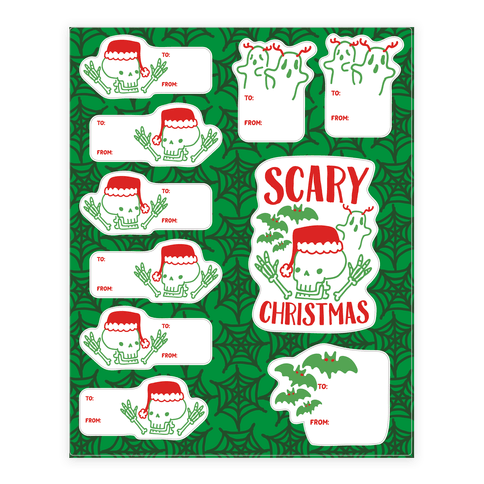 Spooky Scary Christmas Gift Tag