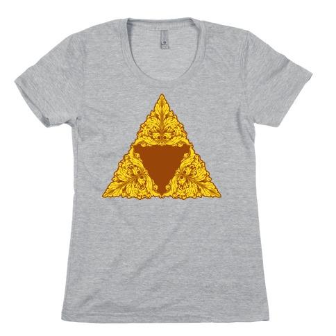 Floral Triforce Womens T-Shirt