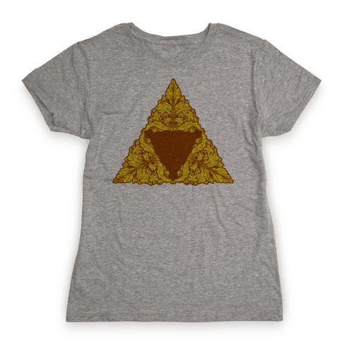 Floral Triforce Womens T-Shirt