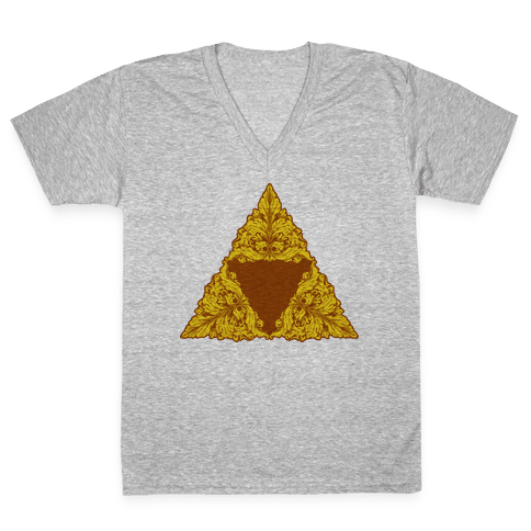 Floral Triforce V-Neck Tee Shirt