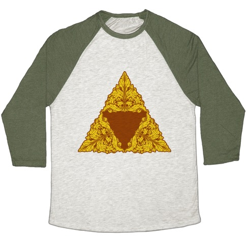 Floral Triforce Baseball Tee