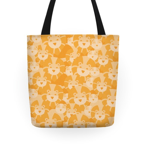 Lion and Lioness Pattern Tote
