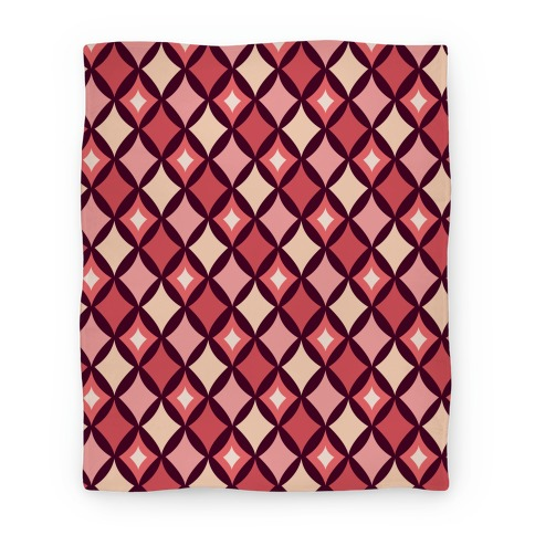 Diamond Pattern Blanket (Red) Blanket