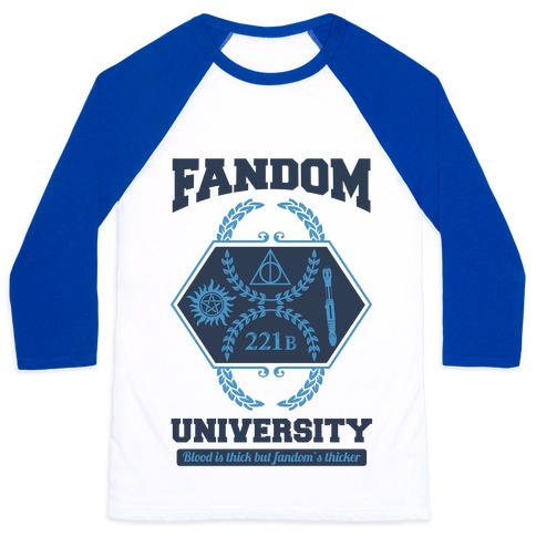 Fandom University Baseball Tee