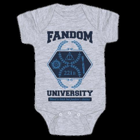 Fandom University Baby Onesy