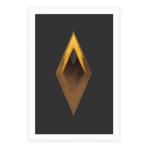 Golden Diamond Poster