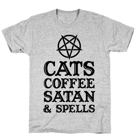 Cats Coffee Satan & Spells T-Shirt