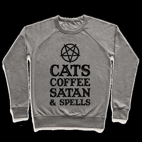 Cats Coffee Satan & Spells Pullover