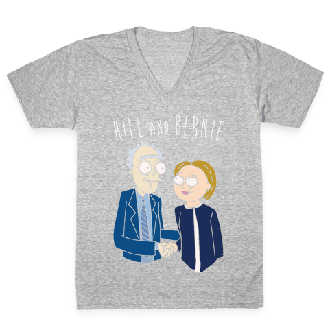 Hill And Bernie Parody V-Neck Tee Shirt