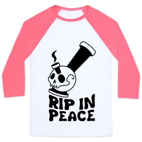 Rip In Peace Baseball Tee