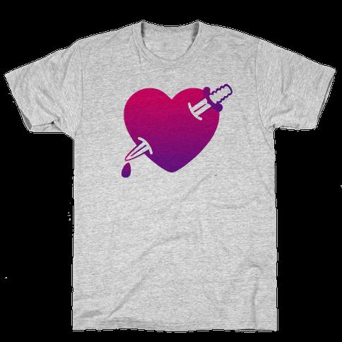 Heart and Dagger Mens T-Shirt