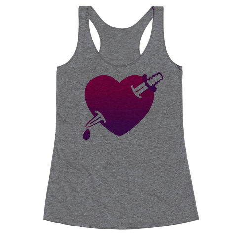 Heart and Dagger Racerback Tank Top