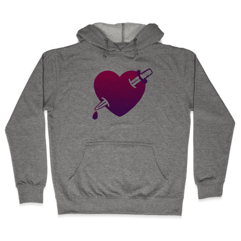 Heart and Dagger Hooded Sweatshirt