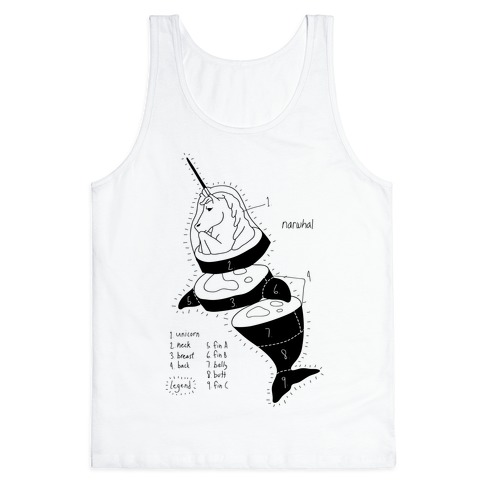 Narwhal Diagram Tank Top