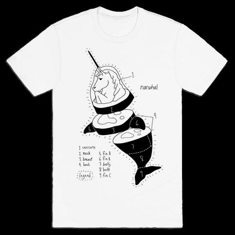 Narwhal Diagram Mens T-Shirt