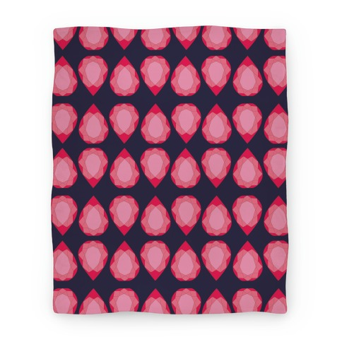 Pink Teardrop Gem Pattern Blanket