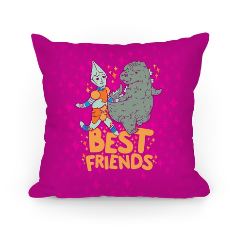 Best Friends Jet Jaguar & Godzilla Pillow