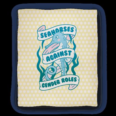 Seahorses Against Gender Roles Blanket
