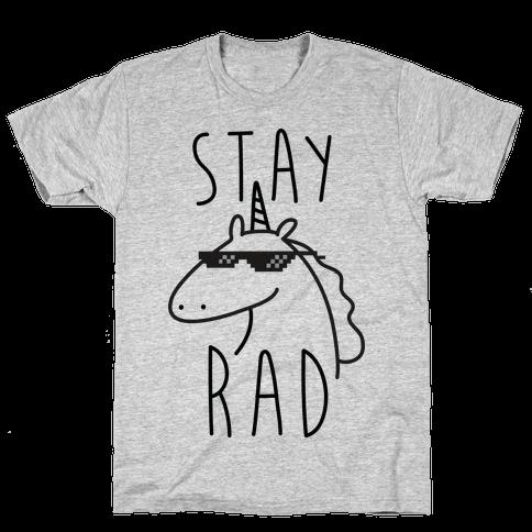 Stay Rad Unicorn Mens T-Shirt
