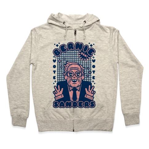 Anime Bernie Sanders Zip Hoodie