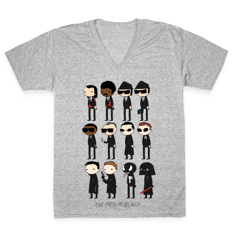 THE MEN IN BLACK V-Neck Tee Shirt