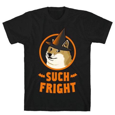 Doge: Such Fright! Mens T-Shirt
