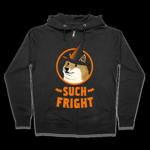 Doge: Such Fright! Zip Hoodie