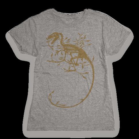 Floral Dinosaur Womens T-Shirt