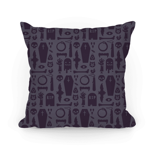 Simple Halloween Pattern Pillow