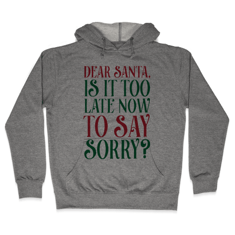Dear Santa, Is It Too Late Now To Say Sorry? Hooded Sweatshirt