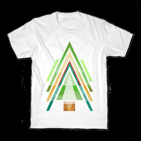 Geometric Summer Tree Kids T-Shirt