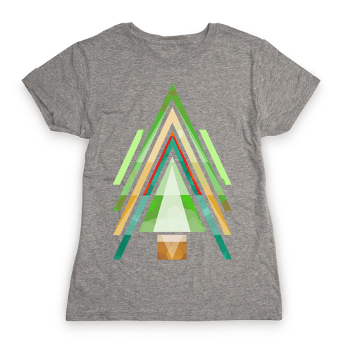 Geometric Summer Tree Womens T-Shirt