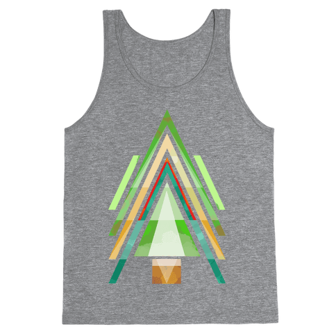 Geometric Summer Tree Tank Top