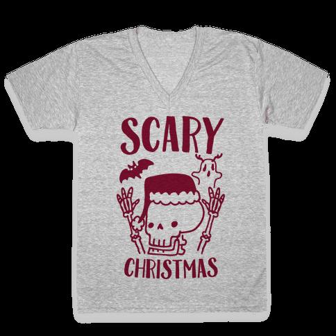Scary Christmas  V-Neck Tee Shirt