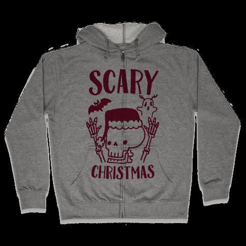 Scary Christmas  Zip Hoodie