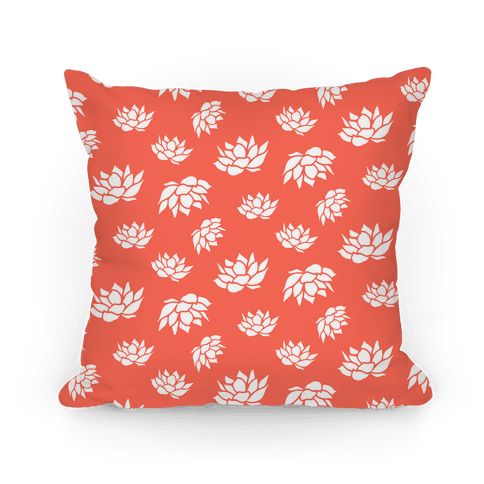 Orange Lotus Flower Pattern