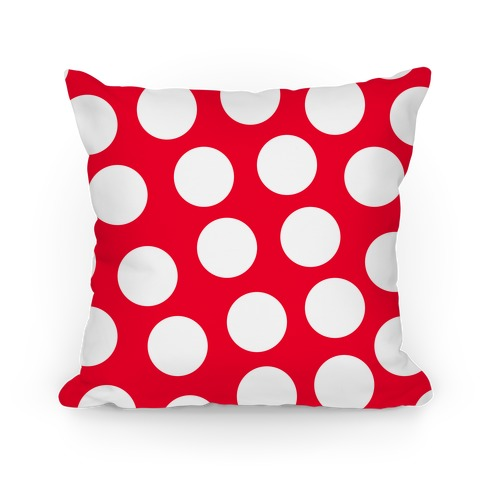 Red Polka Dot Pillow Pillow