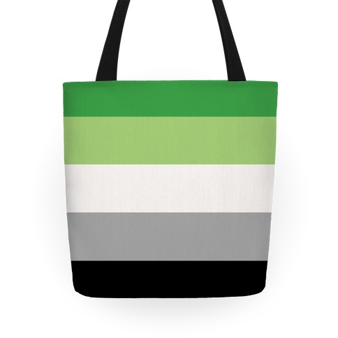Aromantic Pride Flag Tote