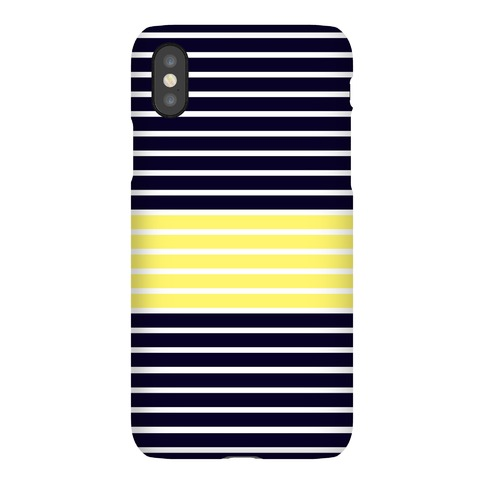 Navy and Yellow Stripe Case Phone Case